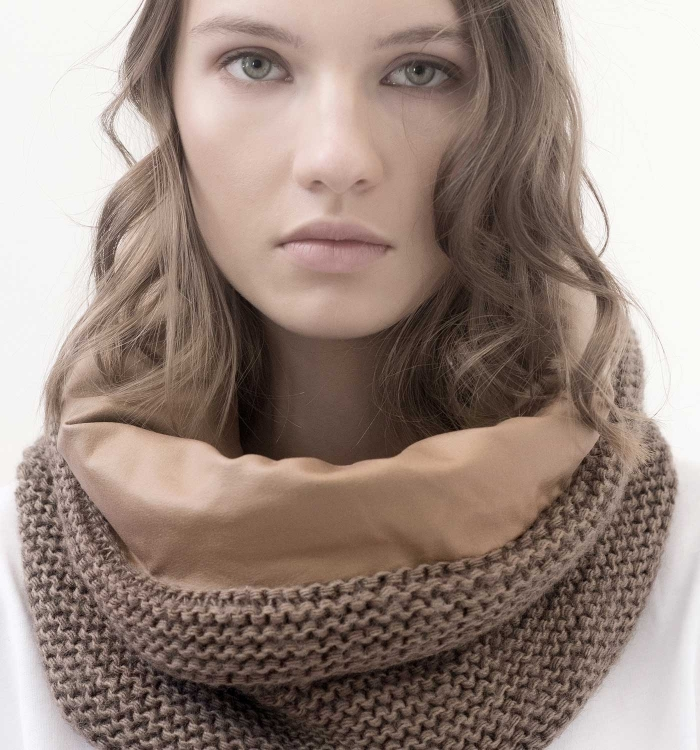 SNOOD WOOL / BABY COTTON LEATHER