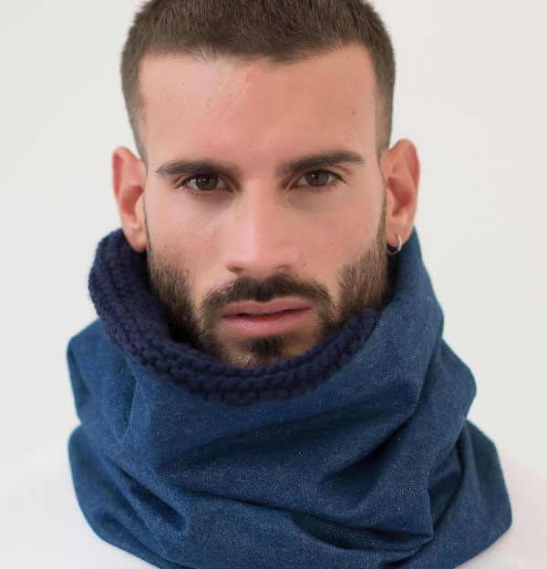 KNITTED DENIM SNOOD