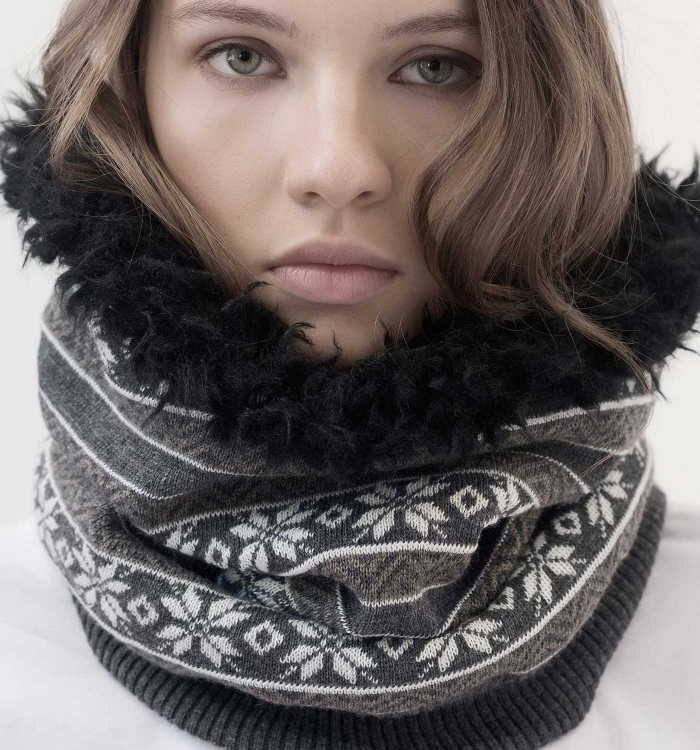 WOOL KNIT SNOOD / PATTERN