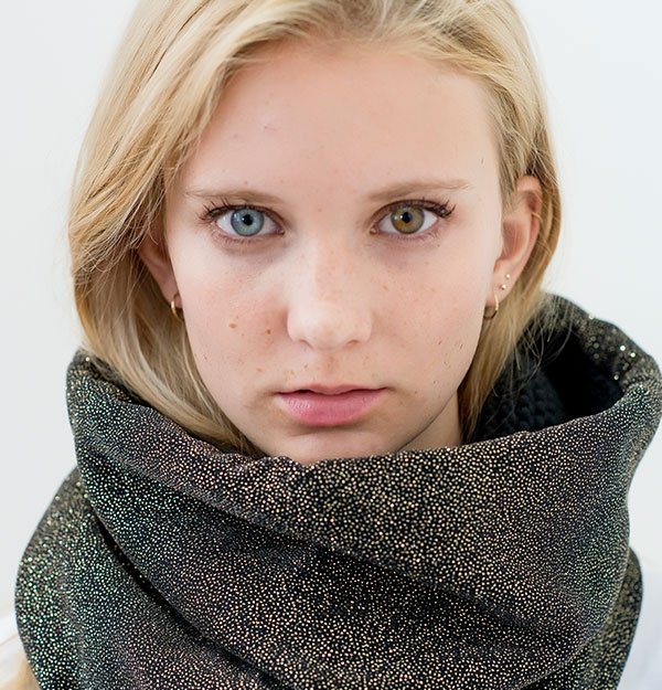 KNITTED SHINY SNOOD