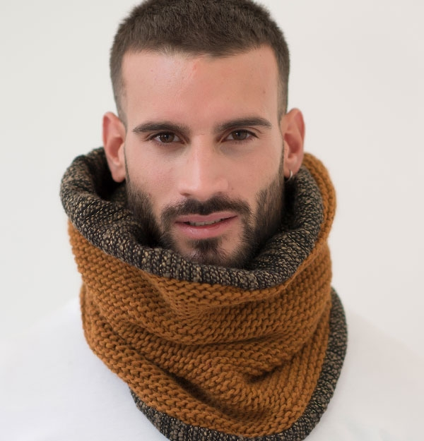 KNITTED TOBACCO SNOOD WITH LUREX