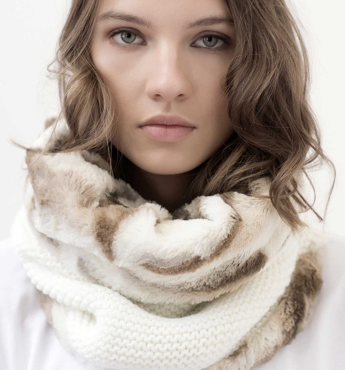 SNOOD WOOL / MIX FAUX FUR