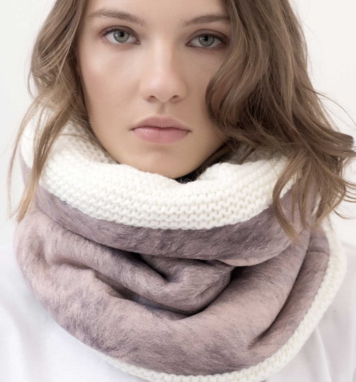 SNOOD WOOL / FAUX TRIM FUR